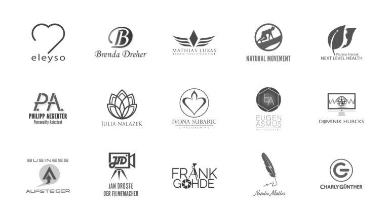 Logos schwarz weiß